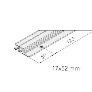 Skjutdörrsbeslag Glas 10-15 kg