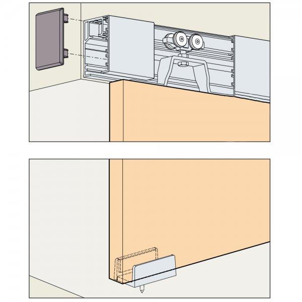 Skjutdörrsbeslag Porta 40H - 1 dörr