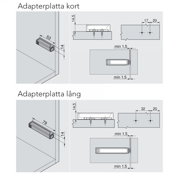 TIP-ON adapterplattor 2