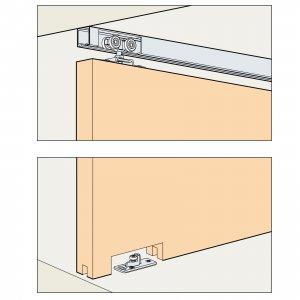 Skjutdörrsbeslag Porta 60/100 H - 1 dörr