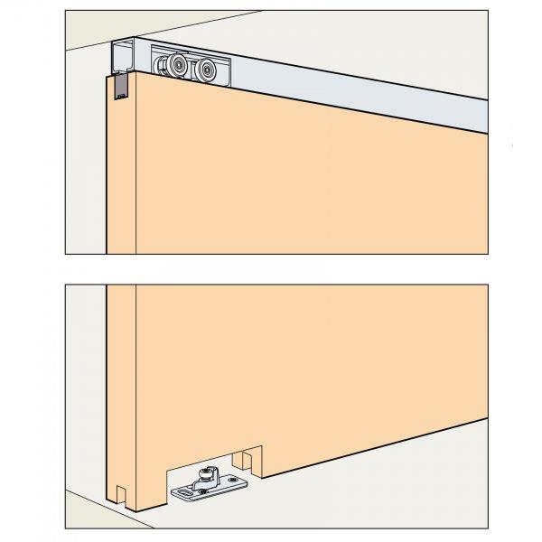 Skjutdörrsbeslag Porta 60/100 HM - 1 dörr